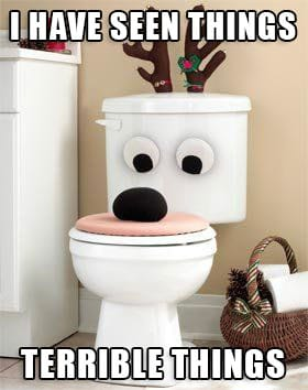 toilet bowl with eyes