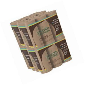 Seventh Generation Unbleached Paper Towels, 100% Recycled Paper, 6 Count