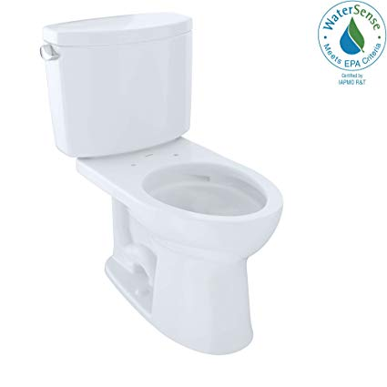 Toto Drake II Two-Piece Elongated 1.28 GPF Universal Height Toilet CST454CEFG#01