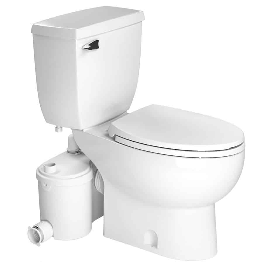 Saniflo Sanibest Pro Macerating Upflush Toilet Kit – Elongated Bowl