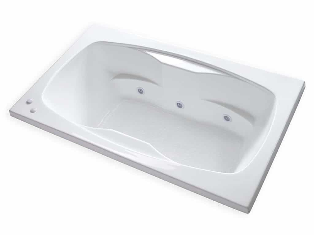 Carver Tubs Rectangle Drop In Self Draining Whirlpool Bathtub