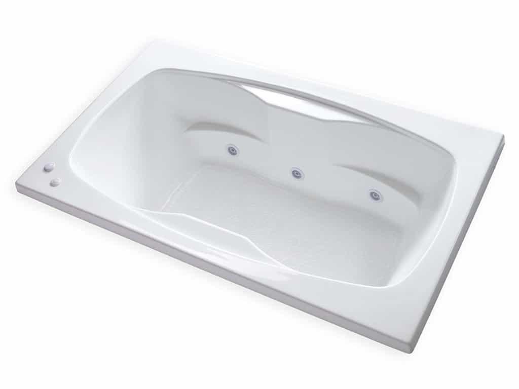 Carver Tubs Rectangle Drop In Self Draining Whirlpool Bathtub
