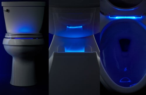 toilet with blue light
