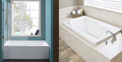 Alcove versus Drop In Bathtub