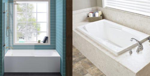 Alcove versus Drop In Bathtub