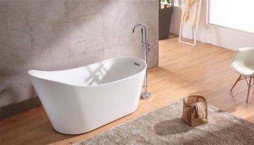 Bathroom with wood floor